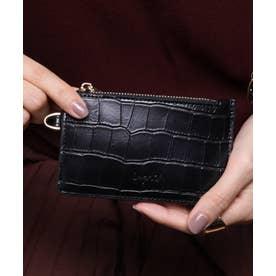 マッドクロコ カード財布キーリング付き (BLK)