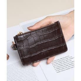マッドクロコ カード財布キーリング付き (DBRN)
