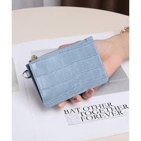 マッドクロコ カード財布キーリング付き (BLU)