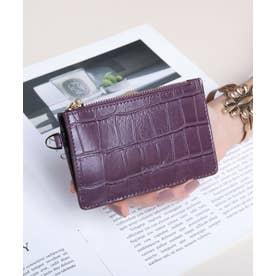 マッドクロコ カード財布キーリング付き (PPL)