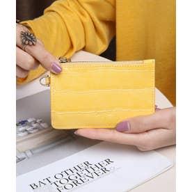 マッドクロコ カード財布キーリング付き (YEL)