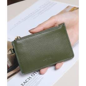 牛革 カード財布キーリング付き (KHA)