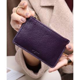牛革 カード財布キーリング付き (PPL)