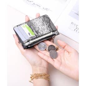マッドクロコ カード財布キーリング付き (PYTGRY)