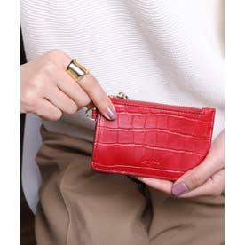 マッドクロコ カード財布キーリング付き (RED)
