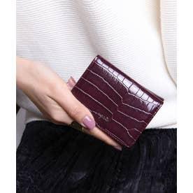 シャイニースモールクロコ 三つ折りミニ財布 (WIN)