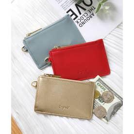 スムース カード財布キーリング付き (GLD)