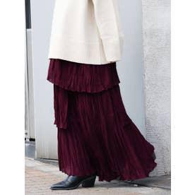 シワプリ−ツデザインスカート(パープル)