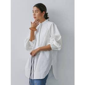 バックオープンドレスシャツ(オフホワイト)