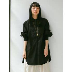 バックオープンドレスシャツ(ブラック)