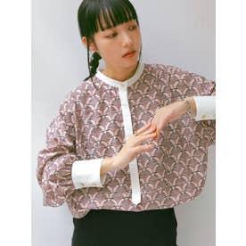 モダン柄デザインシャツ(レッド)