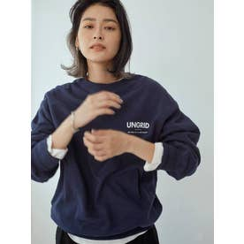 【10周年限定】Ungridロゴルーズスウェット(ネイビー)