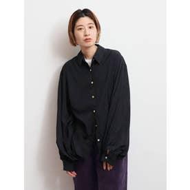 【WEB限定】レーヨン混ルーズシャツ(ブラック)