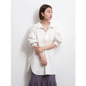 【WEB限定】スキッパーロングスリーブシャツ(オフホワイト)