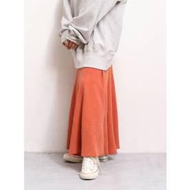【WEB限定】フィットフレアテレコスカート(オレンジ)
