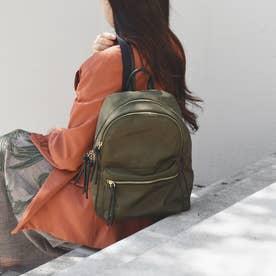 cinq poches【サンク ポッシュ】ナイロンリュック (カーキ)