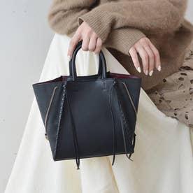point sac【ポワン サック】スエードコンビジッパートートバッグ/Sサイズ (ブラック)