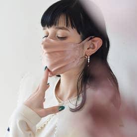 シルク製 耳ひも調整可【CELEBMASK No.5】美シルエット 選べるカラー 立体セレブマスク/ケース付き【返品不可商品】 (ピンク)