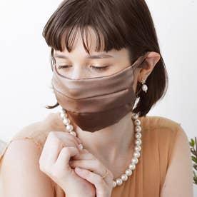 耳ひも調整可 洗える【CELEBMASK No.3】シルクを纏って日常をもっと美しく セレブマスク/ケース付き【返品不可商品】 (ブロンズ)