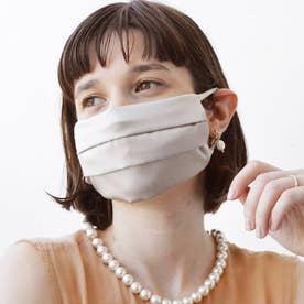 耳ひも調整可 洗える【CELEBMASK No.3】シルクを纏って日常をもっと美しく セレブマスク/ケース付き【返品不可商品】 (グレー)
