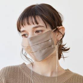 耳ひも調整可 洗える【CELEBMASK No.3】シルクを纏って日常をもっと美しく セレブマスク/ケース付き【返品不可商品】 (グレーベージュ)
