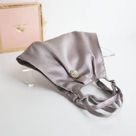 【母の日】BOX付シルク立体マスク&マスクピアスセット (ラベンダーグレー)【返品不可商品】