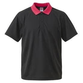 4.1オンス ドライアスレチック ポロシャツ (2065.ブラックピンク)