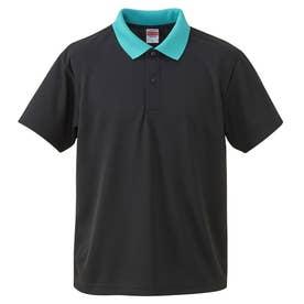4.1オンス ドライアスレチック ポロシャツ (2072.ブラックブルー)