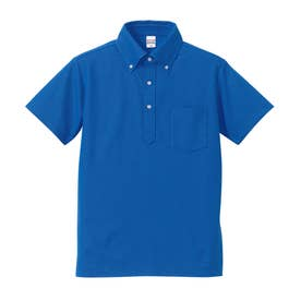 UnitedAthle 5.3オンス ドライカノコユーティリティーポロシャツ (085.ロイヤルブルー)