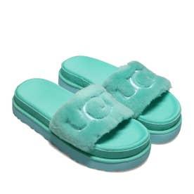 Laton Fur Slide (BLUE)