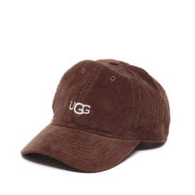LOGO CORDUROY 6 PANEL CAP (BROWN)