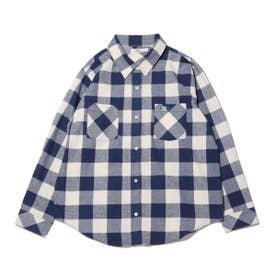 チェックシャツ (NAVY)