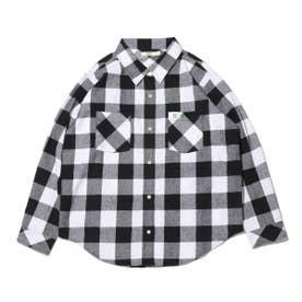 チェックシャツ (BLACK)