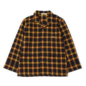 フランネルチェックシャツ (YELLOW)