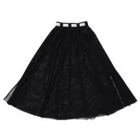 メッシュ ロングスカート (BLACK)