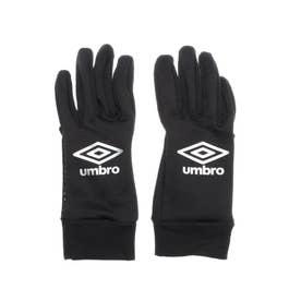 ジュニア サッカー/フットサル 防寒手袋 JR.フイールドプレイヤーグローフ UUDQJD52 (ブラック)