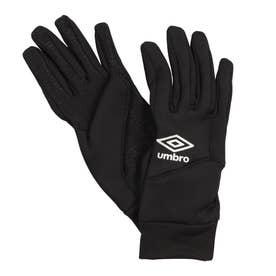 ジュニア サッカー/フットサル 防寒手袋 JRフイールドプレイヤーグローブ UUDSJD54 (ブラック)