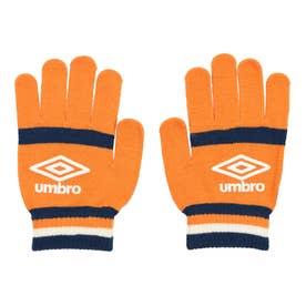 ジュニア サッカー/フットサル 防寒手袋 JRマジツクニツトグローブ UUDSJD56 (オレンジ)