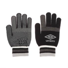 メンズ サッカー/フットサル 防寒手袋 マジツクニツトグローブ UUAQJD54 (ブラック)