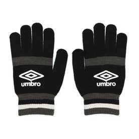 メンズ サッカー/フットサル 防寒手袋 マジツクニツトグローブ UUASJD55 (ブラック)