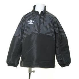 ジュニア サッカー/フットサル ピステシャツ JR ラインドサーモピステ UUJQJF32 (ブラック)