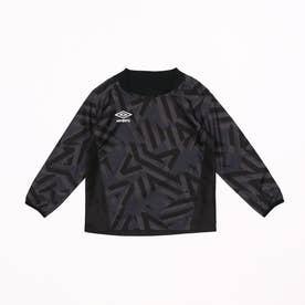 ジュニア サッカー/フットサル ピステシャツ JR グラフイツクピステトツプ UUJQJF30 (ブラック)