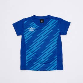 ジュニア サッカー/フットサル 半袖シャツ TR グラフィック半袖プラクティスシャツ UUJRJA50AP (ブルー)