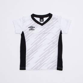 ジュニア サッカー/フットサル 半袖シャツ TR グラフィック半袖プラクティスシャツ UUJRJA50AP (ホワイト)