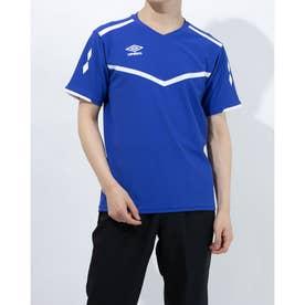 メンズ サッカー/フットサル 半袖シャツ ハンソデプラクテイスシヤツ UUURJA54 (ブルー)