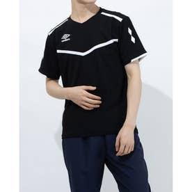 メンズ サッカー/フットサル 半袖シャツ ハンソデプラクテイスシヤツ UUURJA54 (ブラック)