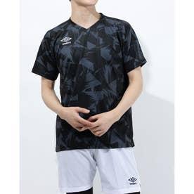 メンズ サッカー/フットサル 半袖シャツ TR グラフイツクセカンダリーシヤツ UUUPJA55 (ブラック)