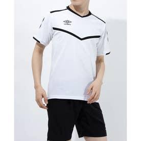 メンズ サッカー/フットサル 半袖シャツ ハンソデプラクテイスシヤツ UUURJA54 (ホワイト)