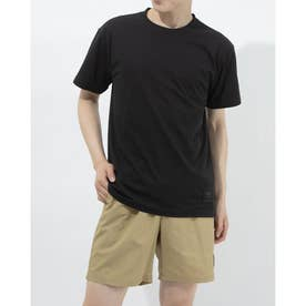 半袖機能Tシャツ HE ワンポイントTシヤツ ULURJA63 (ブラック)
