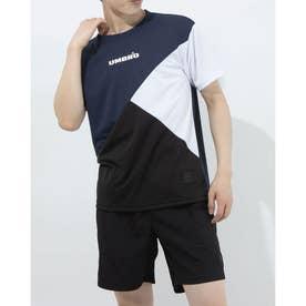 半袖機能Tシャツ HE カラーブロツクTシヤツ ULURJA59 (ネイビー)